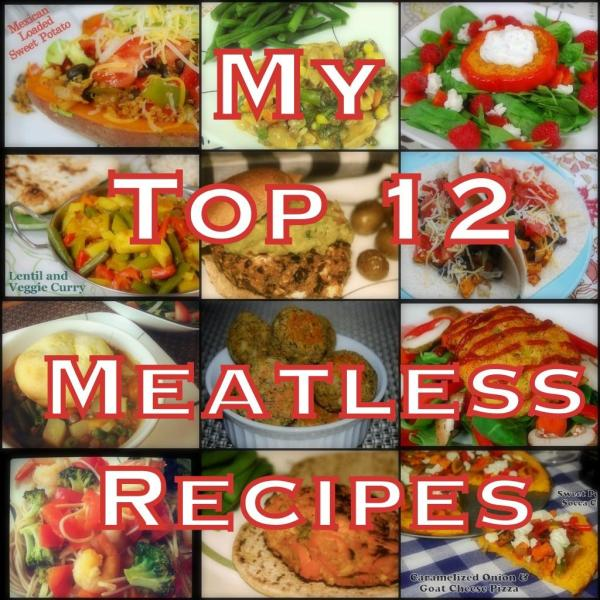 12 Vegetarian Recipes for those of you trying to go meatless a little more often this year!