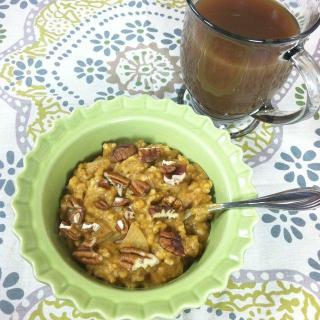 Apple Cinnamon Pumpkin Crockpot Steelcut Oats