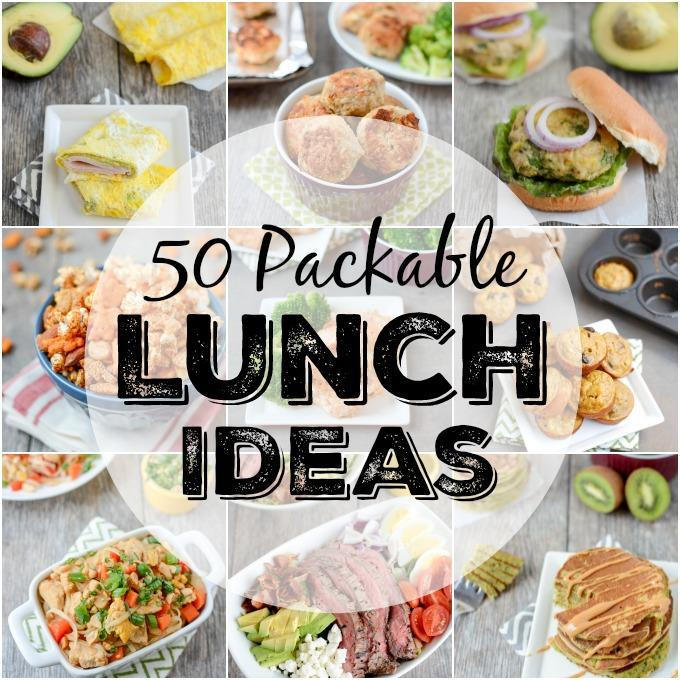 Tired of packing the same thing for lunch every day? Here are 50 packable lunch ideas that are quick, easy and healthy! Perfect for kids and adults.