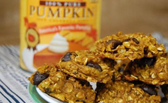 These Pumpkin Oatmeal Cookies taste like fall in dessert form.