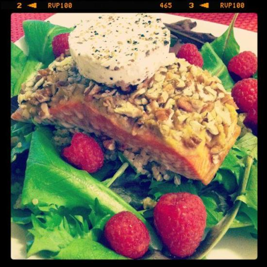 This Pecan Crusted Salmon requires just 3 ingredients. Diner is served!