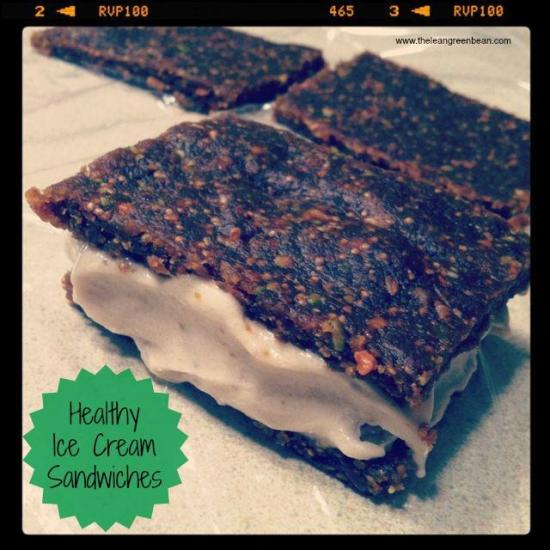 These Healthy Ice Cream Sandwiches are gluten free, dairy free and the perfect dessert to have in your freezer when a craving hits!
