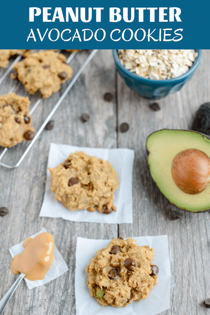 These Peanut Butter Avocado Cookies are gluten-free, dairy-free & packed with healthy fats! Enjoy one for an afternoon snack or dessert.
