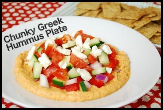 Chunky Greek Hummus Plate
