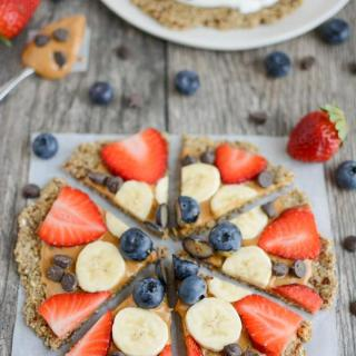 Fruit Pizza with Oatmeal Flax Crust