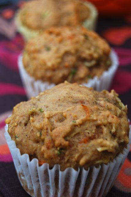 carrot zucchini apple muffins