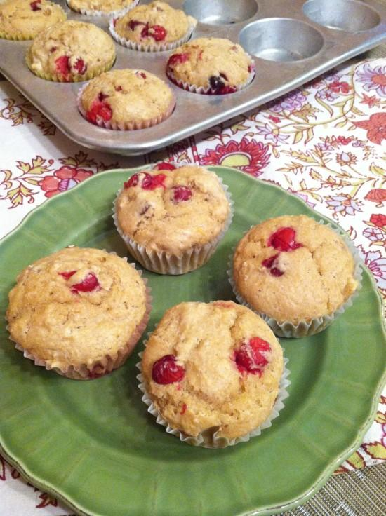 Packed with whole grains, these Whole Wheat Cranberry Muffins make a great on-the-go breakfast!