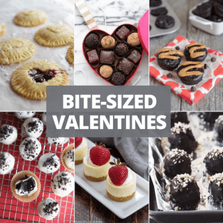 Round-up of bite-sized Valentine's day desserts