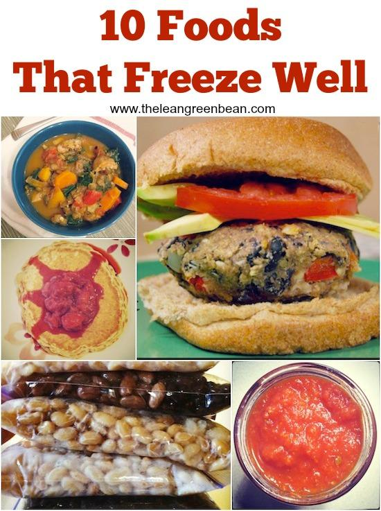 Having a well-stocked freezer makes it easy to eat healthy during the week. Here are 10 foods that freeze well. Do some food prep now for easy meals later.