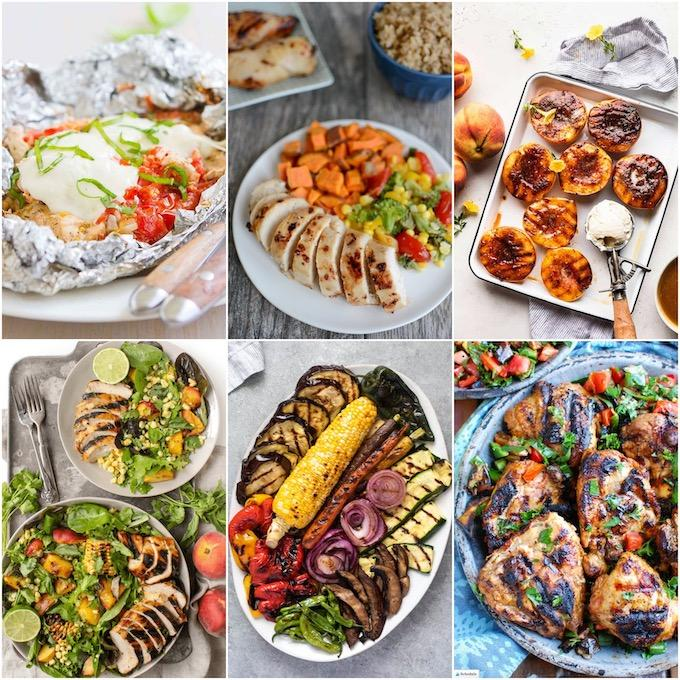 six healthy recipes for the grill