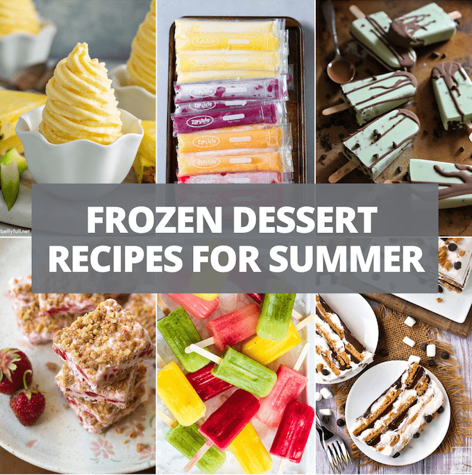frozen dessert recipes for summer