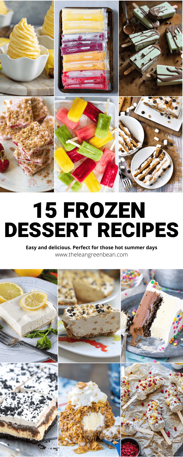 Cool off on a hot day with these Frozen Desserts for Summer! With recipes for everything from ice cream cake to fruit popsicles, there's something for everyone!