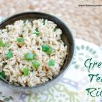{Recipe Redux} Green Tea Rice