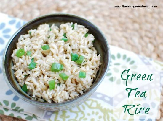 Try cooking your rice with green tea to add extra flavor!
