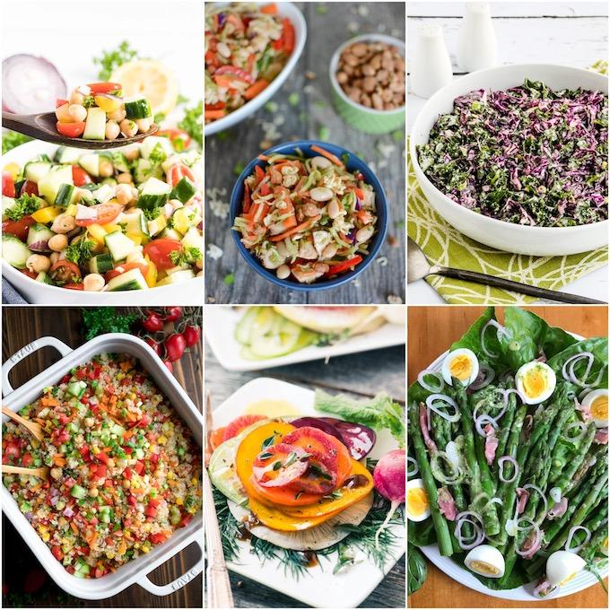 collage of non-traditional salads