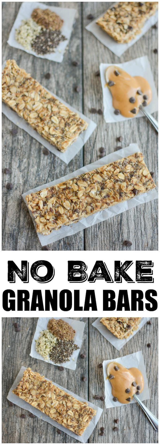 These No-Bake Granola Bars are lightly sweetened with honey and packed with chia, flax and hemp seeds. Full of fiber, protein, and healthy fats, they make a healthy, kid-friendly afternoonsnack!