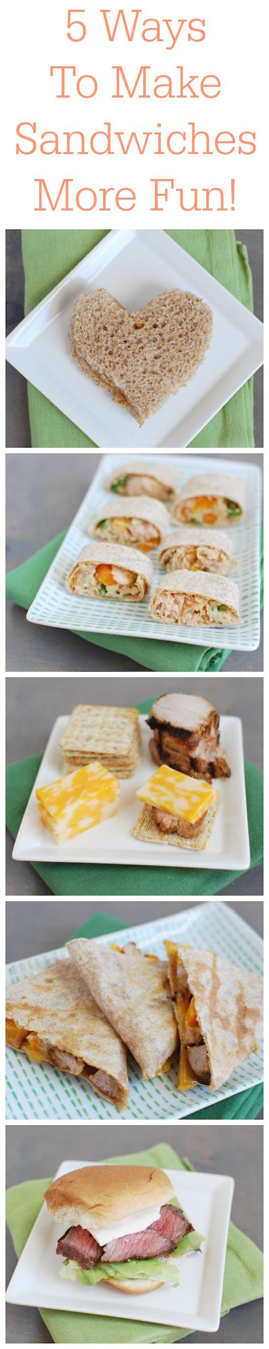 Tired of eating the same sandwich every day? Here are five creative ways to make sandwiches more fun to eat for lunch. Perfect for kids and adults.