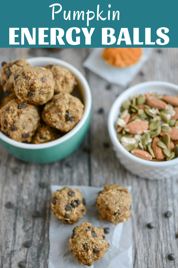These Pumpkin Energy Balls are packed with fiber, protein & healthy fats for energy. Freezer-friendly & the perfect addition to a lunch or afternoon snack.