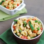 Chicken Pasta Salad with Salsa Hummus Dressing