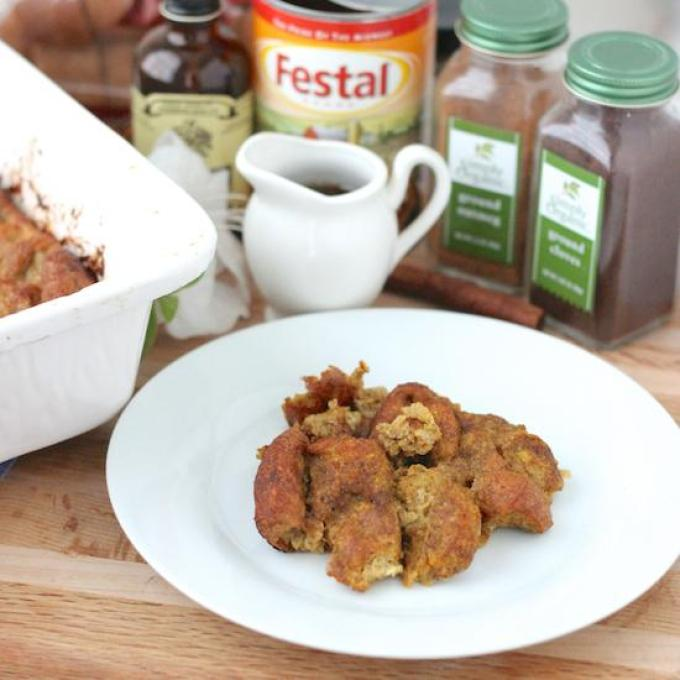 Having people over for brunch? Make this Pumpkin French Toast Bake! Bursting with pumpkin flavor and perfectly spiced, this overnight casserole is sure to be a hit!