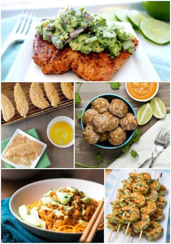 a week of healthy dinner ideas