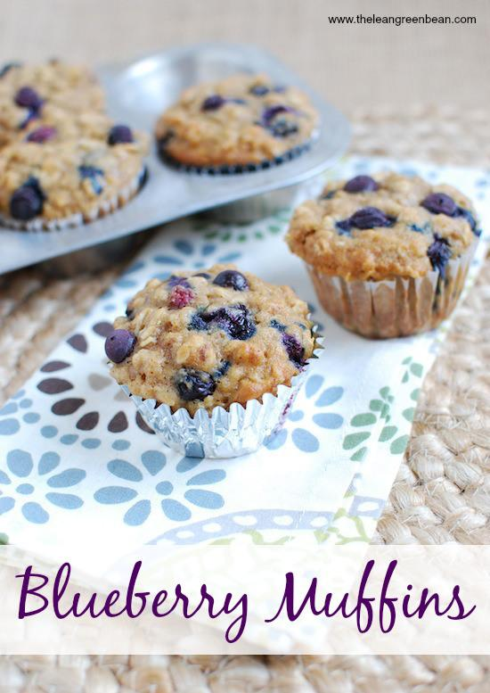 These Healthy Blueberry Muffins are packed with whole grains and make a great snack!