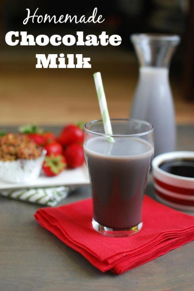 Skip the store bought and make your own homemade chocolate milk with just 4 simple ingredients!