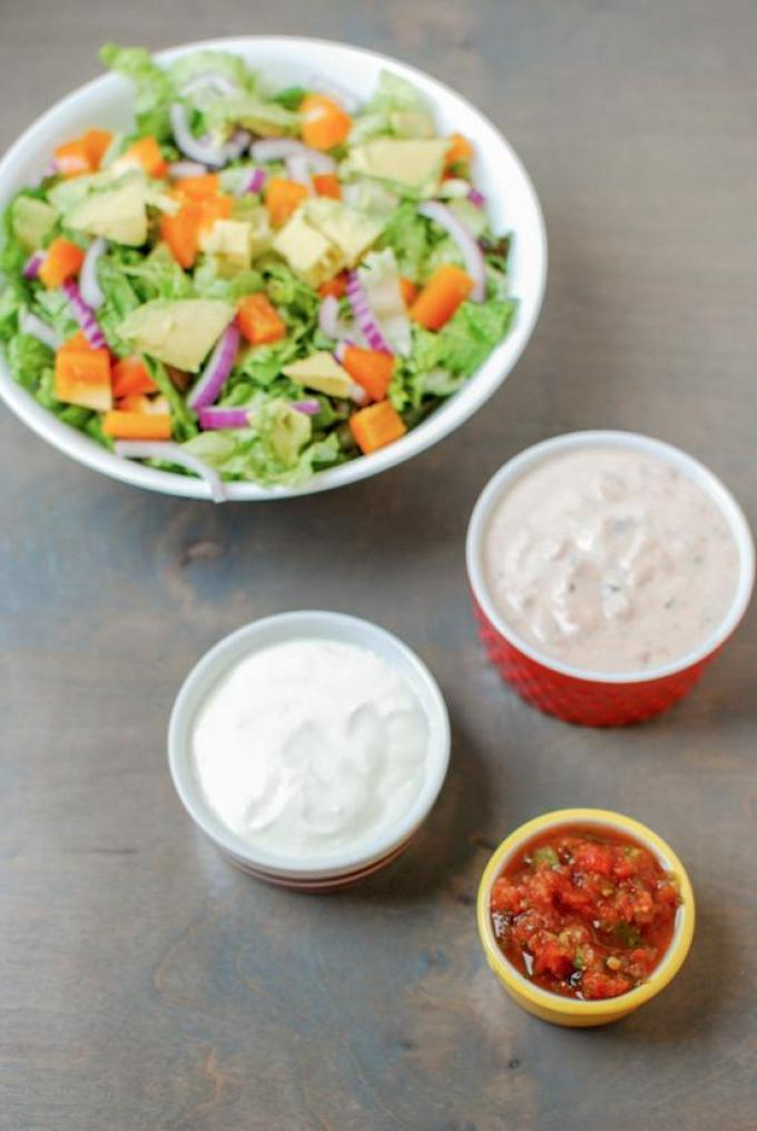 This Salsa Yogurt Dressing is simple to make and great for salads! It can also be used as a marinade or dip!