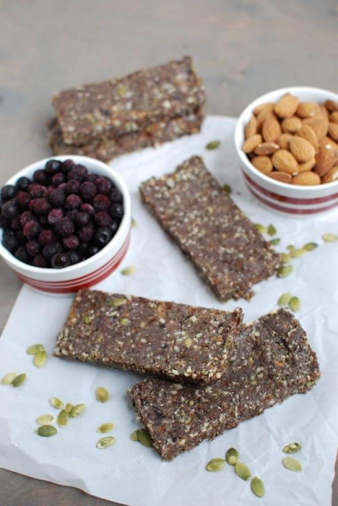 These Wild Blueberry Energy Bars are the perfect way to refuel after a morning workout!