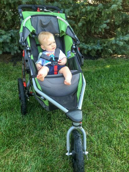 Baby in BOB stroller