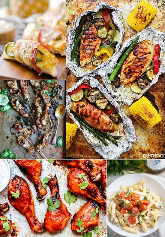 A Week of Dinner Ideas with Chicken