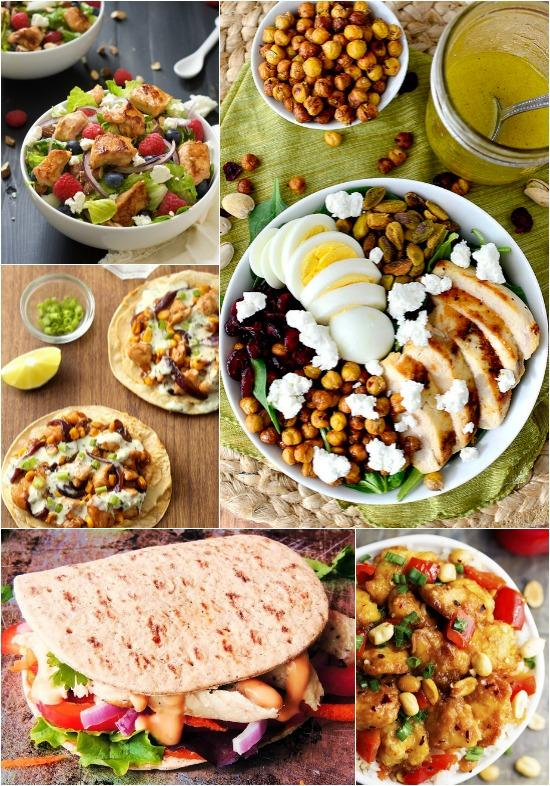 A Week of Lunch Ideas with Chicken