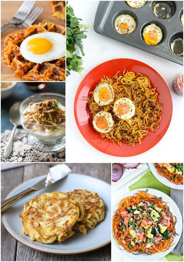 A Week of Spiralized Breakfast Ideas