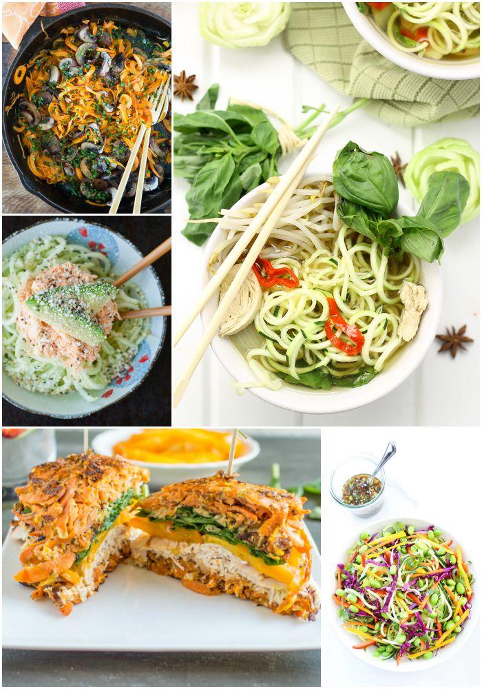 A week of spiralized lunch recipes