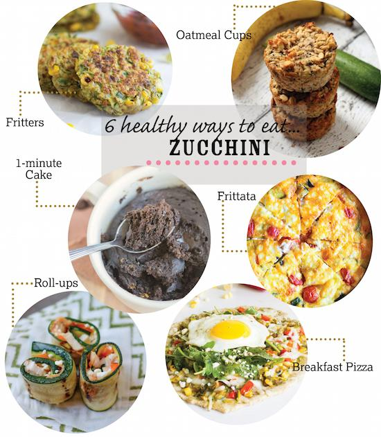 6 Healthy Zucchini Recipes for breakfast, lunch, dinner and dessert!