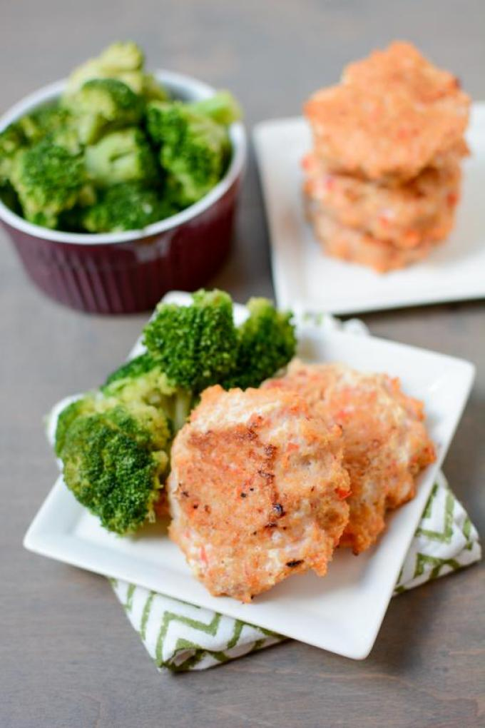 These Baked Shrimp Cakes are cooked straight from frozen. Prep them ahead of time to stock your freezer and enjoy an easy dinner during a busy week.