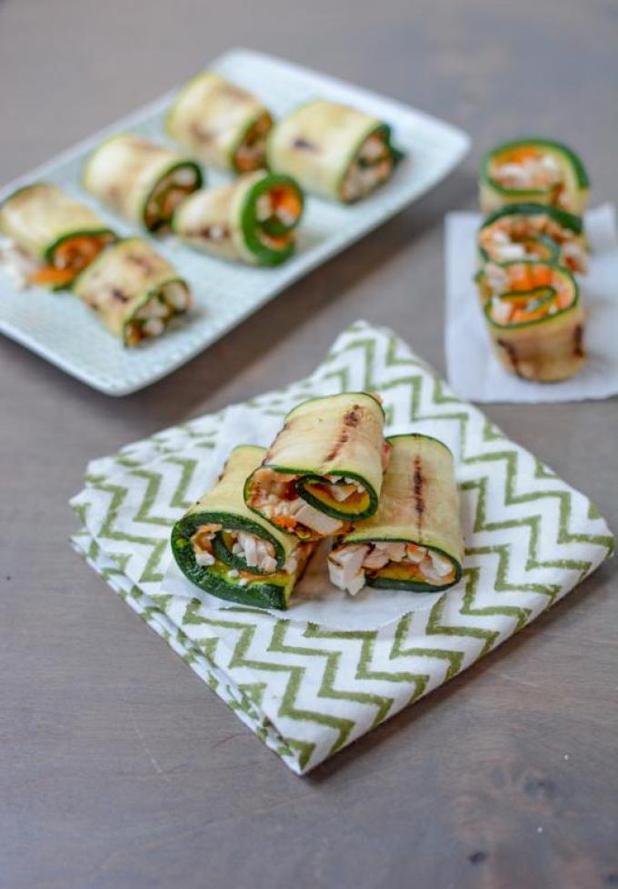 Another way to enjoy zucchini. These Grilled Zucchini Roll-ups are an easy appetizer or snack idea and the filling is totally customizable!