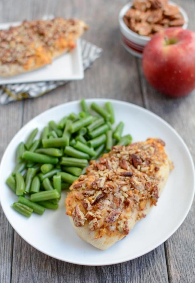 This simple recipe for Apple Pecan Chicken is made with just 5 ingredients and makes a great weeknight dinner.