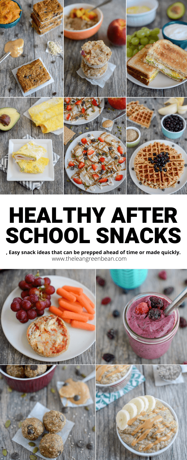 10 easy to make, kid-friendly after school snacks that are perfect to help kids stay full until it's time for dinner!