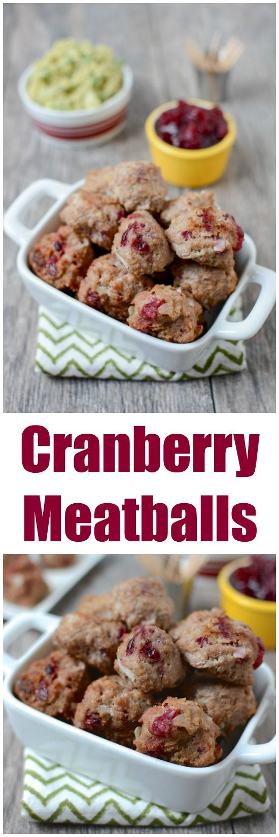 These easy Cranberry Meatballs are a great way to use up leftover cranberry sauce and make the perfect appetizer recipe for a holiday party.