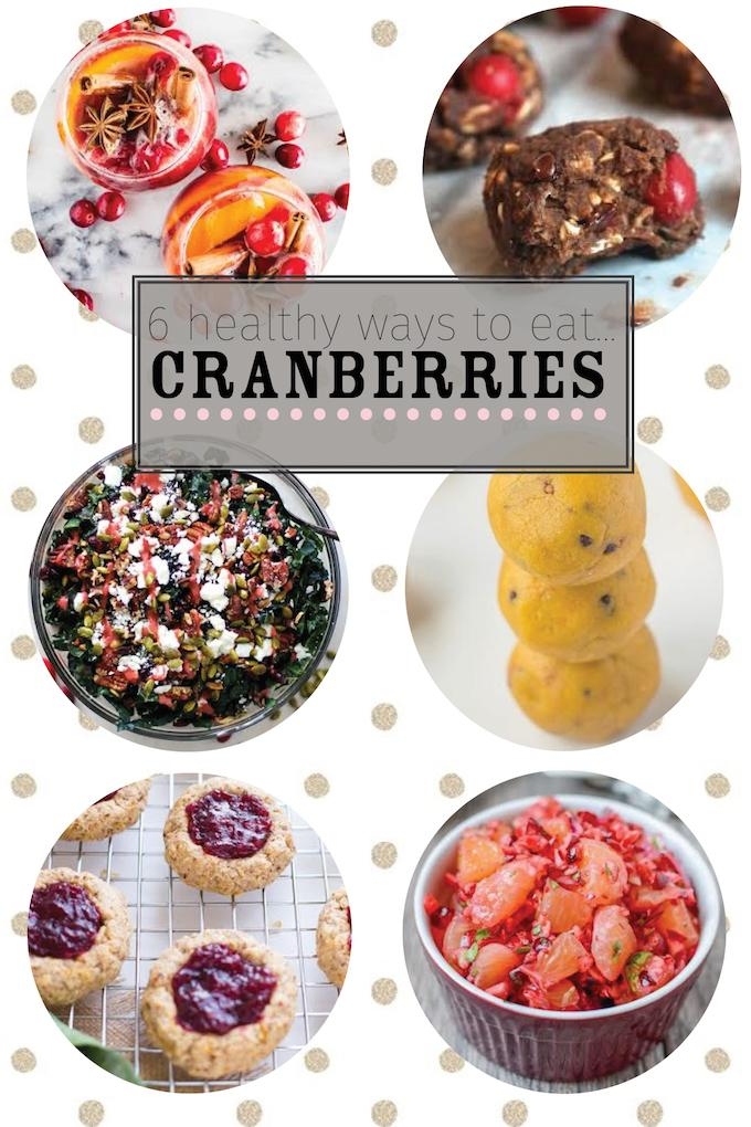 6 Healthy Cranberry Recipes for the holidays!