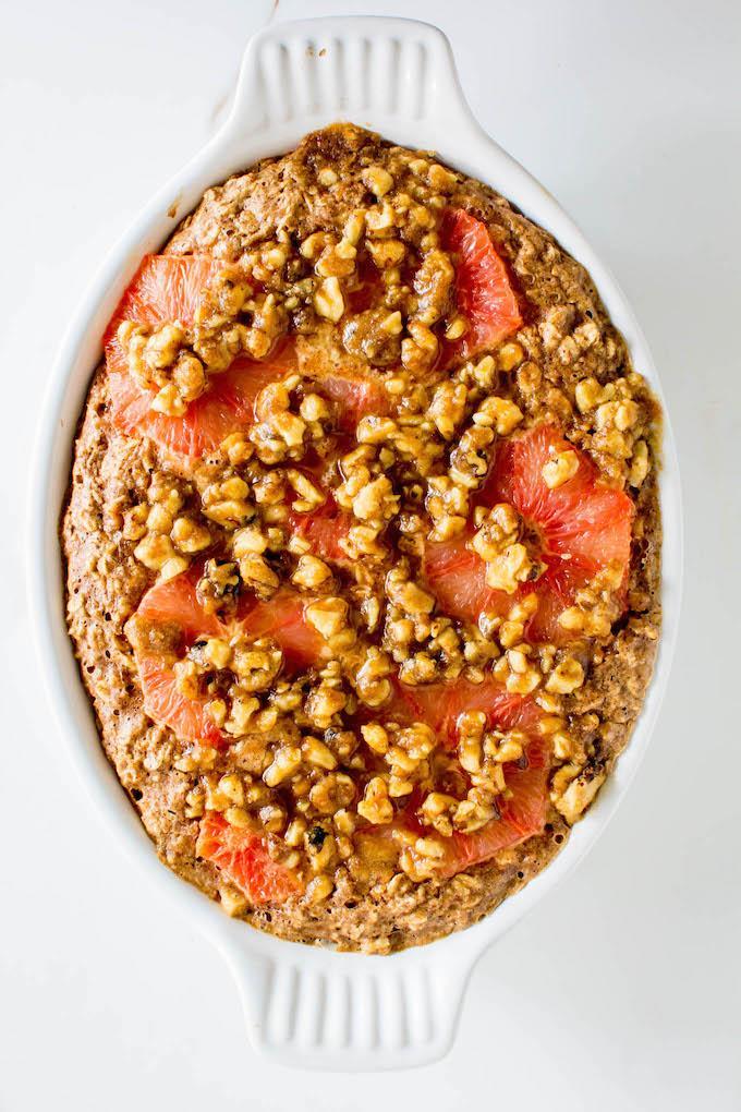 Grapefruit Baked Oatmeal