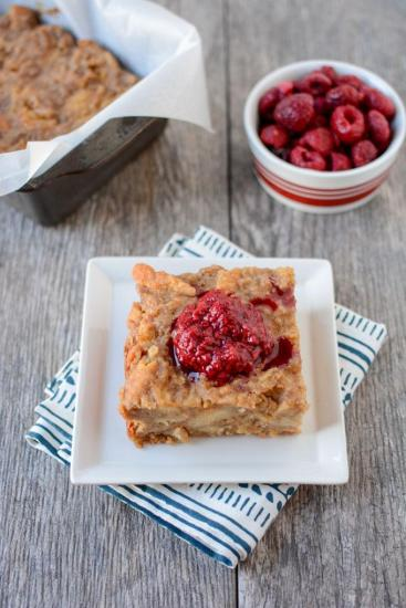 Made with just a few simple ingredients, this Peanut Butter Bread Pudding is not overly sweet, full of flavor and makes just enough to feed 3-4 people for dessert!