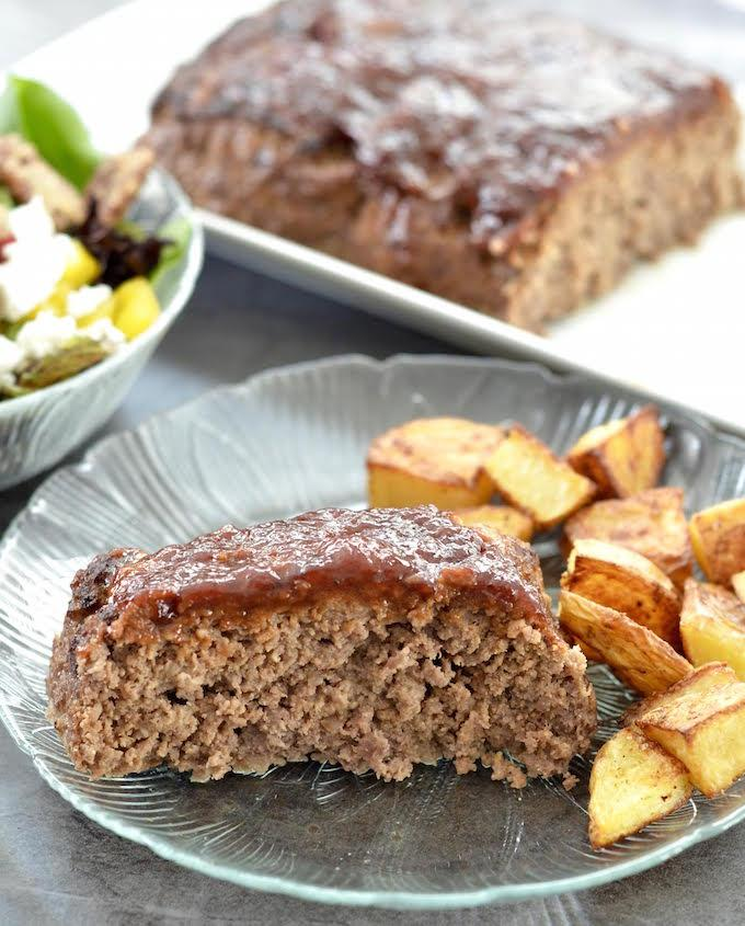 This Gluten-Free Paleo Meatloaf recipe is the perfect family dinner. Make it ahead of time and reheat on a busy night.
