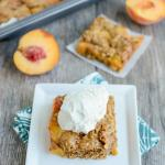 Ginger Peach Oat Bars