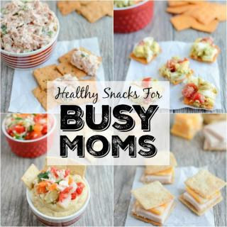 These Healthy Snacks For Busy Moms can be eaten at home or on the go! Packed with protein and healthy fats, these easy pairings will help keep you full until dinner.