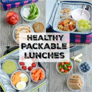 These Healthy Packable Lunches For Kids are quick, easy and satisfying to help fuel kids through their busy afternoons!