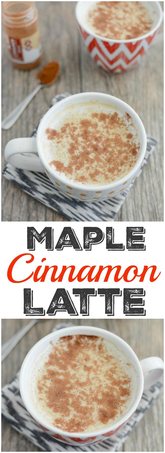 Change up your coffee routine with this Maple Cinnamon Latte. It's easy to make at home and the perfect drink to pair with breakfast on a cool morning.