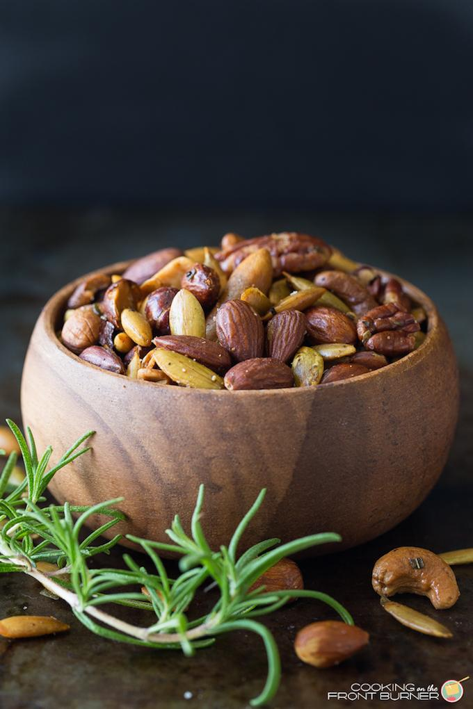 Rosemary Spiced Mixed Nuts