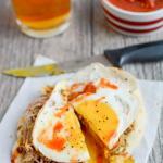 Pork and Egg Breakfast Pizza